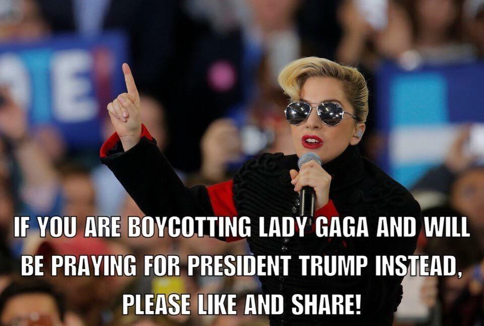 Gaga protest