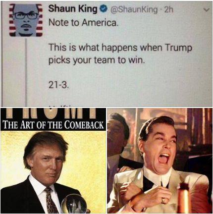 Trump wins the Super Bowl