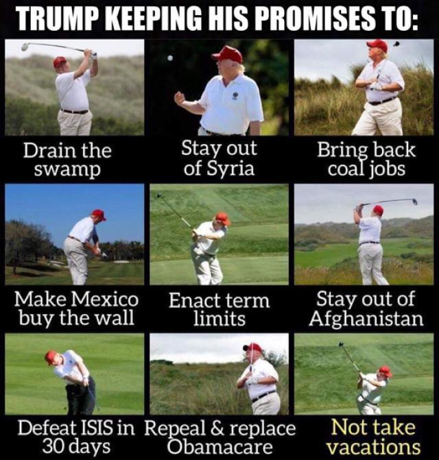 Trump golf meme