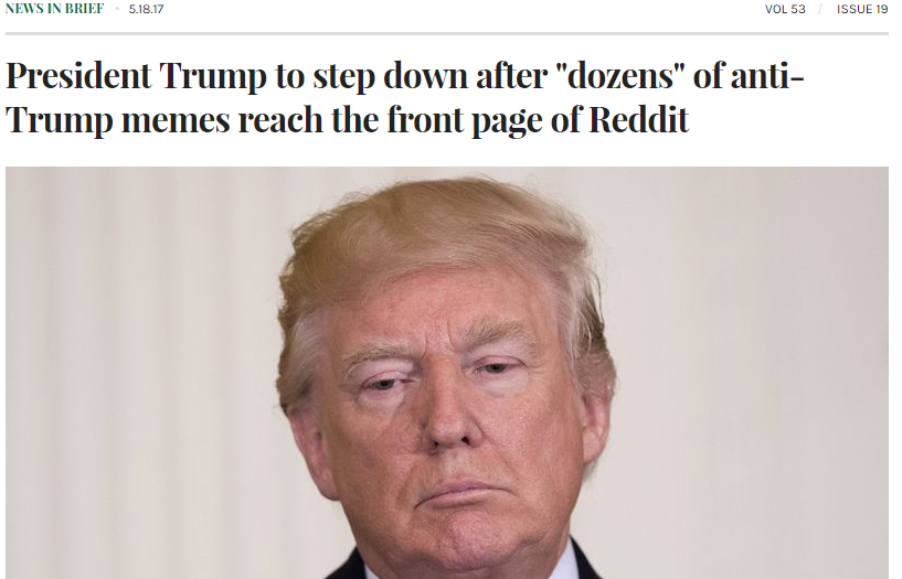 Trump reddit onion photoshop