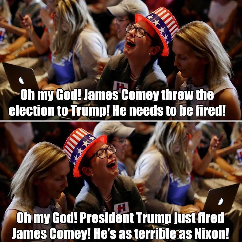 comey fired meme