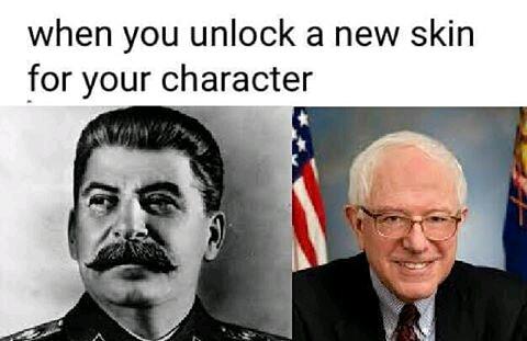 commie bernie meme