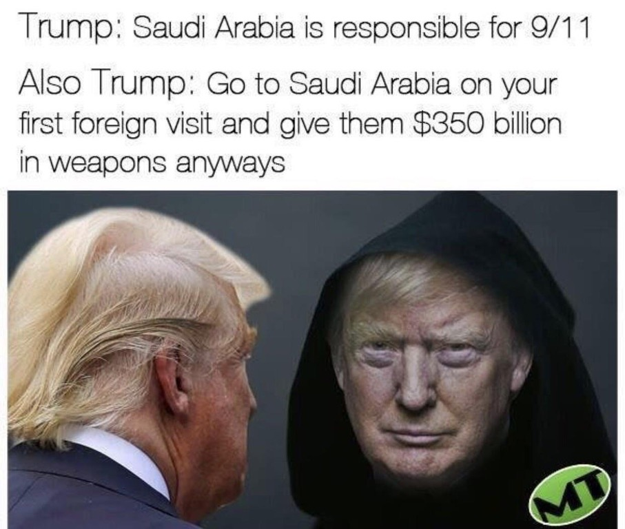 trump saudi meme
