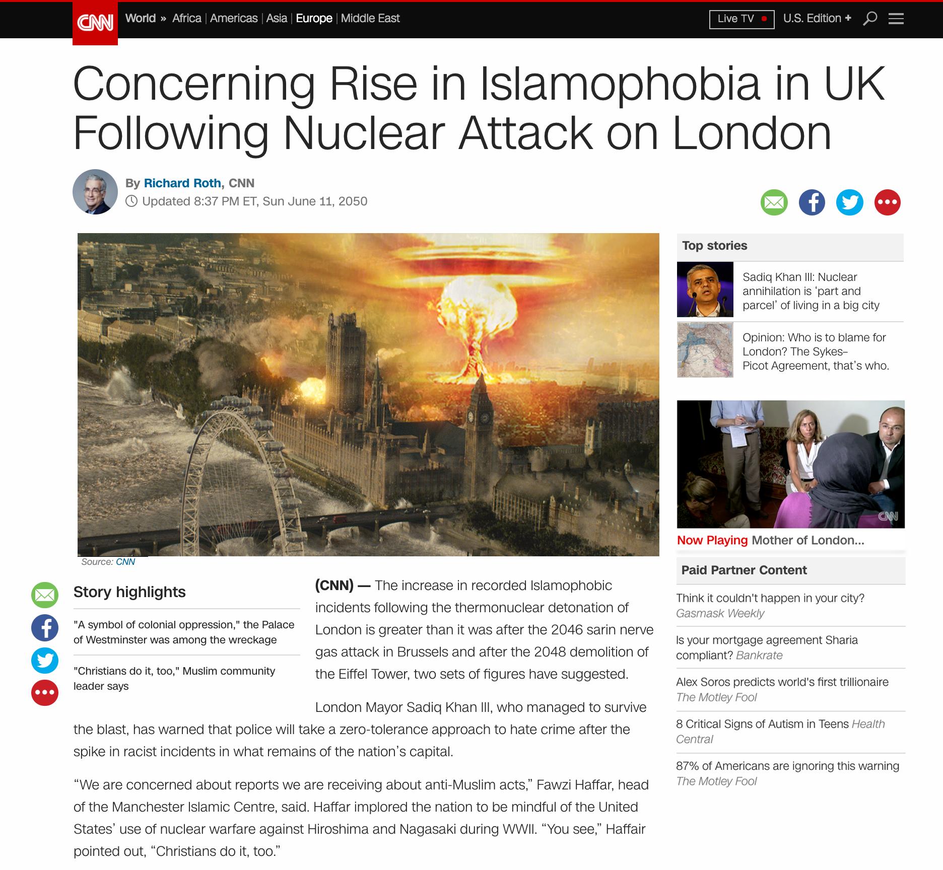 CNN islamophobia