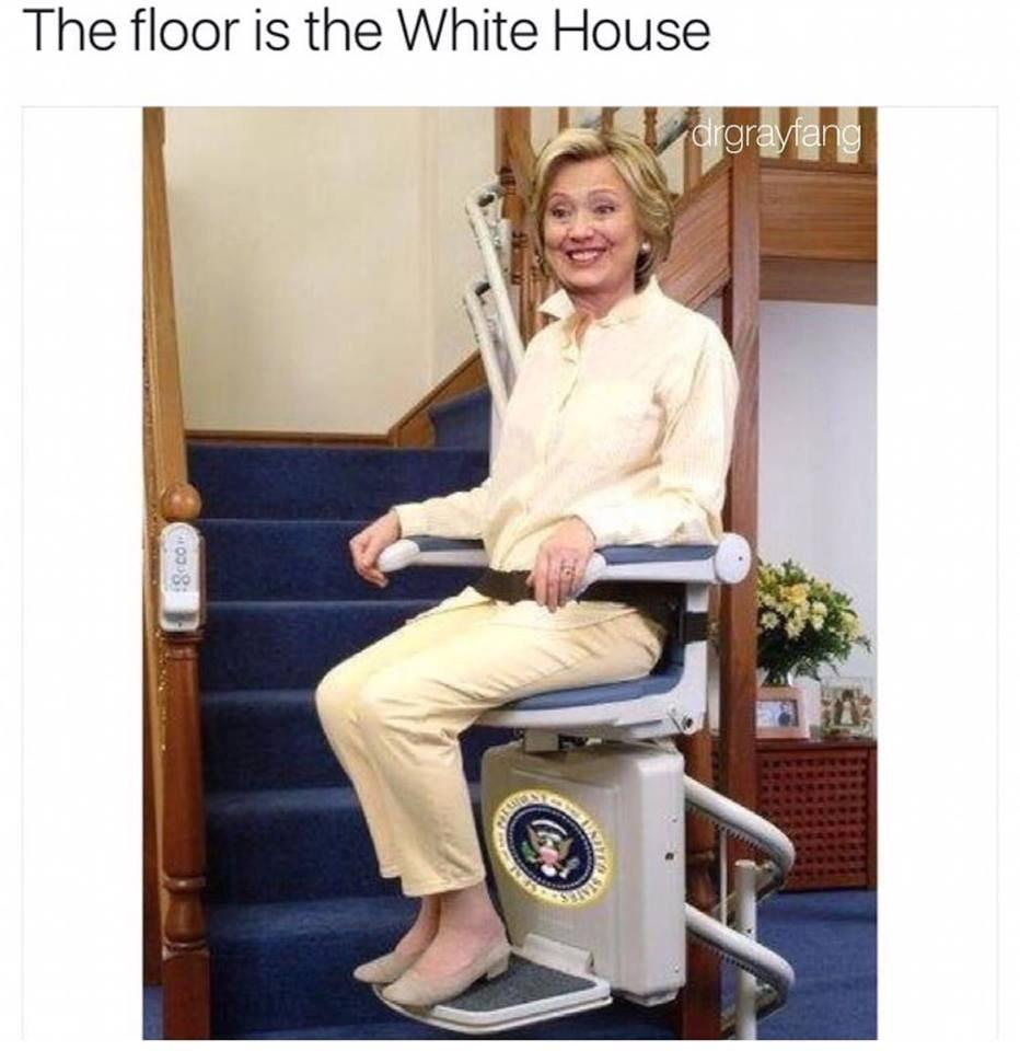 floor is the white house