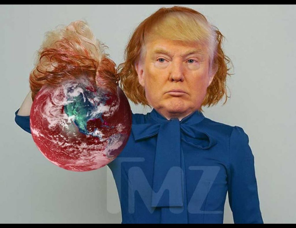trump beheads earth