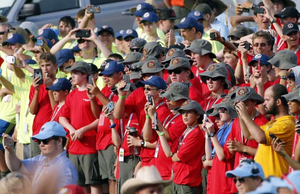 Boy Scout Crowd