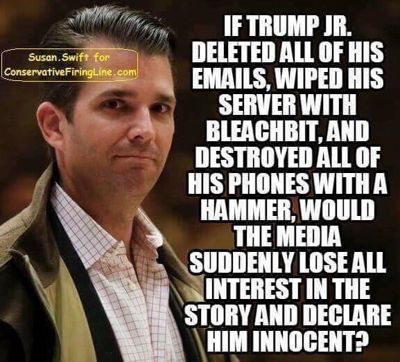 Donald Trump Jr bleachbit political meme