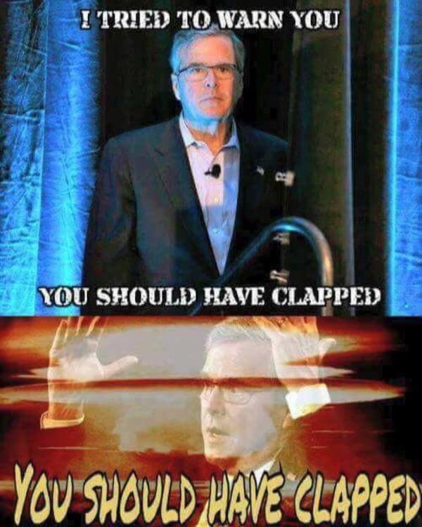 Monday Memes - the best political memes from Indelegate - Jeb Bush I tried to warn you