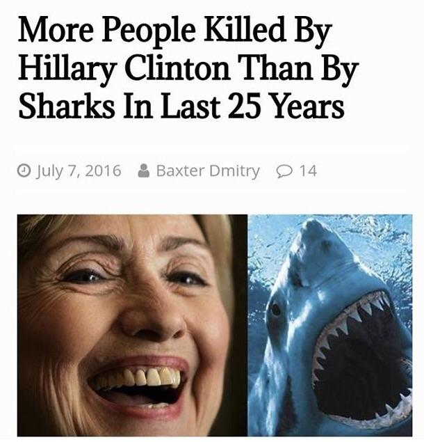 sharks hillary clinton