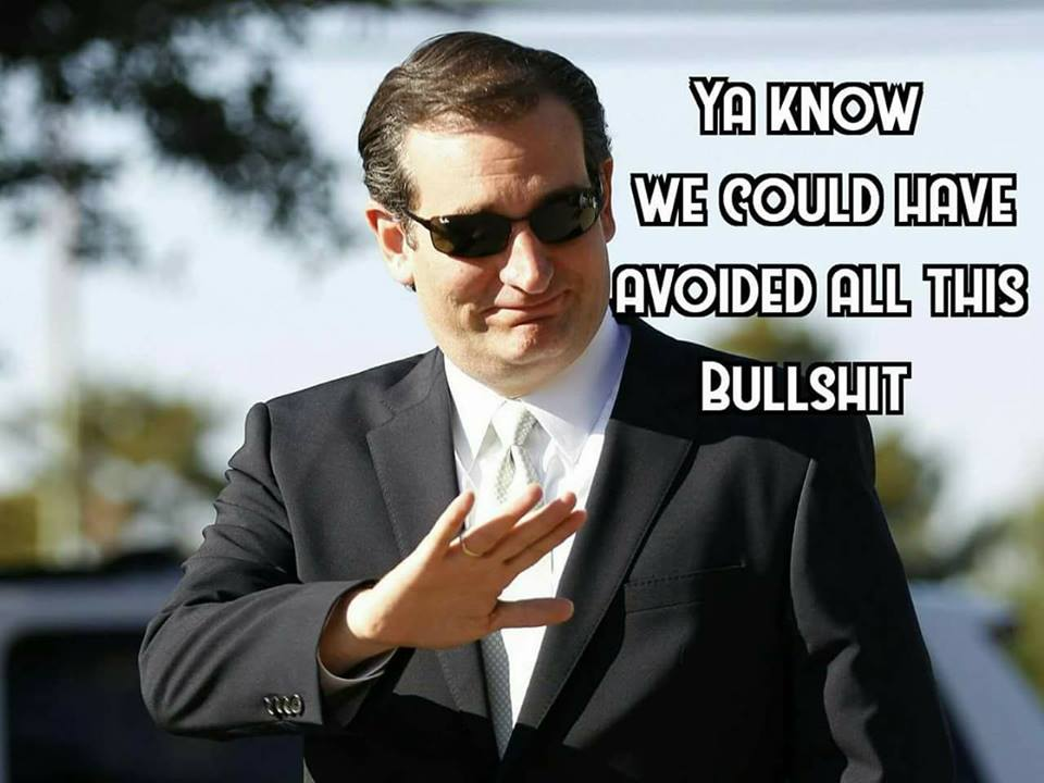 Ted Cruz avoided all of this bullshit