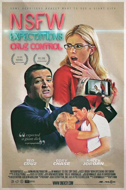 movie poster Ted Cruz porn meme