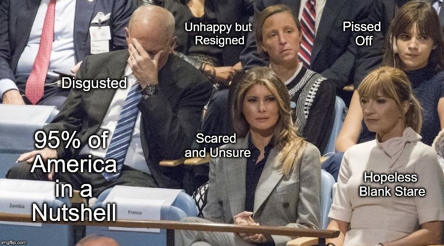 political meme UN speech reaction