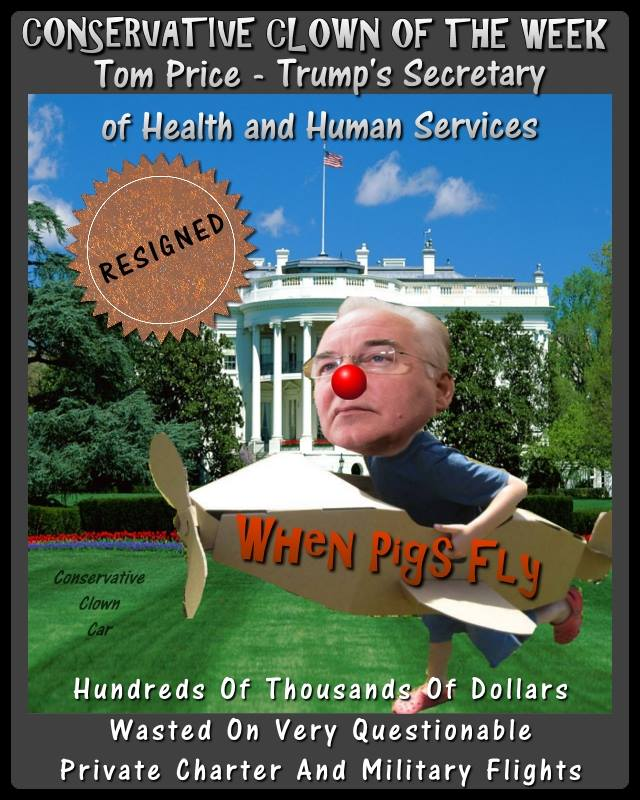 Conservative Clown Car Tom Price meme